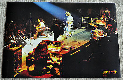 Uriah Heep poster '73 On Stage Classic Line Up poster 19 x 13 inches, Rare !