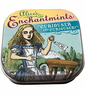 Alice In Wonderland Enchantmints in Illustrated Tin Box 0.4 ounces, NEW SEALED