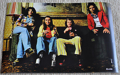 Slade poster Slade In Flame '74 period Fantastic Poster RaRe!
