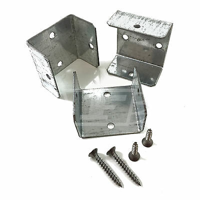 """30 - 40mm (1.6"""") FENCE PANEL & TRELLIS POST BRACKET CLIPS & A2 STAINLESS SCREWS"""