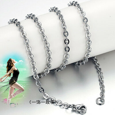 100pcs Wholesale Lot Womens Fashion Stainless Steel Silver Tone Necklace Chain