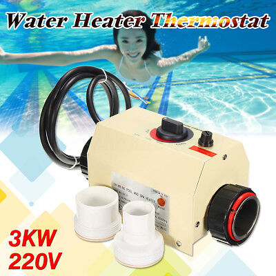 3KW 220V Hot Tub Electric Water Heater Thermostat For Swimming Pool & Bath SPA