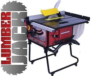 Lumberjack TS254PL Table Saw with stand and Dust Extraction