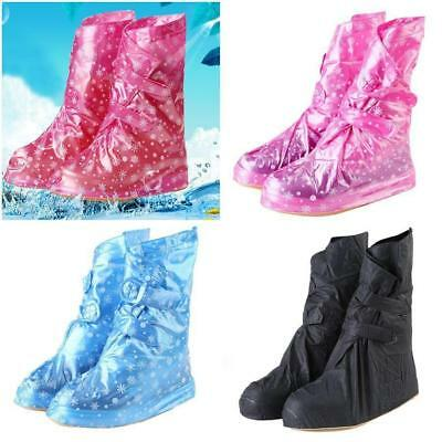 Fashion Unisex Portable Waterproof Non-slip Rain Shoe Cover Boots Overshoes - LD
