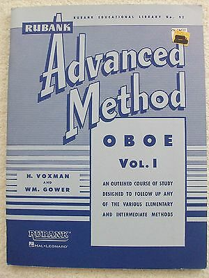 Voxman Advanced Method Oboe Volume 1 Studies Solos Unused