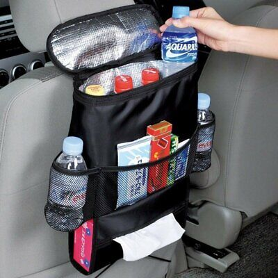TRIXES Car Backseat Organiser with Insulated Cool Bag Compartment