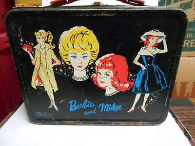 Barbie rare original metal lunch box 1964