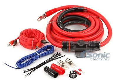 NEW! T-Spec V6-RAK1-0 1/0 Gauge V6 Series Amplifier Wiring Kit w/ RCA Cables