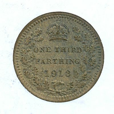 1913 King George V One Third Farthing Lot A4