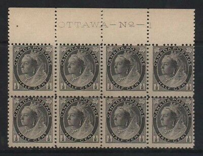 Canada #74 NH Mint Plate #1 Block Of 8