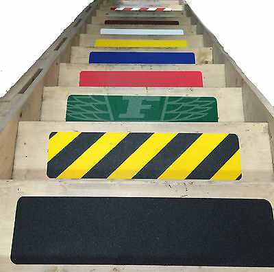150mm x 600mm ADHESIVE BACKED ANTI SLIP / SKID TAPE FOR STAIR TREADS 11 COLOURS