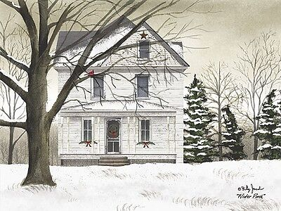 Art Print, Framed or Plaque by Billy Jacobs - Winter Porch - BJ1100A
