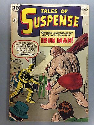 Tales Of Suspense (1963) #40 2Nd Appearance Of Iron Man 1St Golden Armor Kirby
