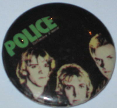 1980's The Police Tour Pin 1.25""