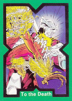 Mint X-Force Comic Images 1991 Base Card #27 ...to The Death