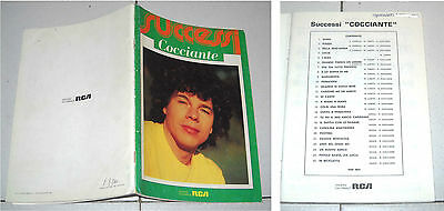 Spartiti RICCARDO COCCIANTE Successi - 1984 Songbook Vocal spartito Best of