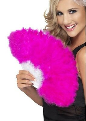 Pink Marabou Fan Costume Accessory fnt
