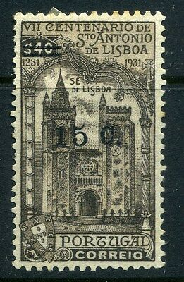 PORTUGAL;  1933 surcharged St.Antonio fine Mint hinged 15/40c. value