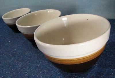 Vintage Set of 3 Mixing / Pudding BOWLS / Made in New Zealand