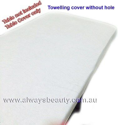 Towelling Cover Without Facehole for Massage Table Beauty Bed Salon Spa