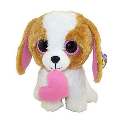 TY Beanie Boos - COOKIE the Brown Dog with Heart (Solid Eye Color) (6 inch) MWMT