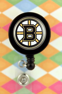 Retractable Badge Reel Name ID Pull Clip Holder Lanyard Boston Bruins Gift