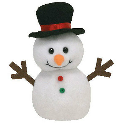 TY Holiday Baby Beanie - FLAKES the Snowman - MWMTs Stuffed Animal Toy Ornament