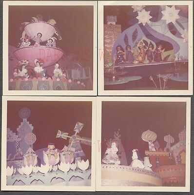 Lot of 4 Vintage Color Photos Its A Small World Puppet Dolls Disneyland 671805
