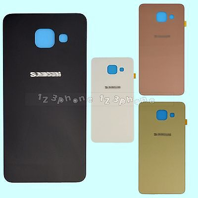 Rear Back Glass + Housing Battery Door Cover For Samsung Galaxy A3 A5 A7 A9 2016