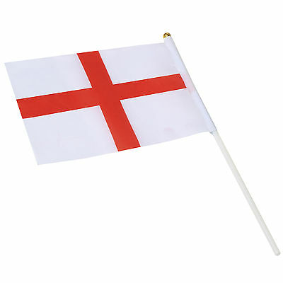 TRIXES Nylon St George's Cross England Handheld Waving Flag