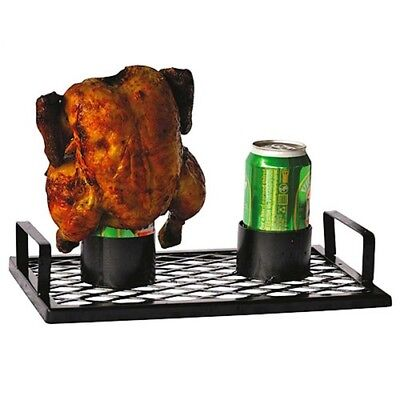 Coyote Chick 'n' Brew Twin BBQ Chicken Double Roaster Beer Can Kitchen Bar