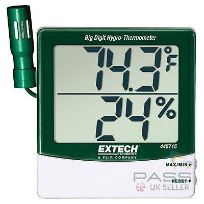 NEW Extech 445715 Humidity & Temperature Indicator w/ Remote Sensor / UK Seller