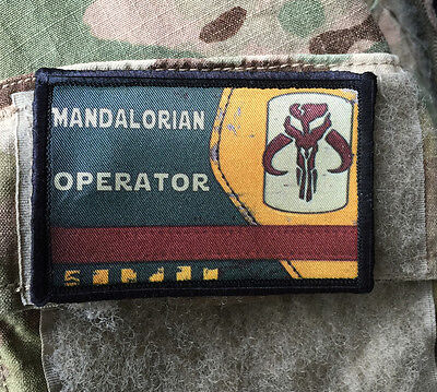 Star Wars Mandalorian Operator Morale Patch Tactical ARMY Hook Military USA
