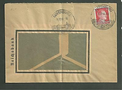 Cover Sent December 31 1941 From Luxemburg Under German Occupation