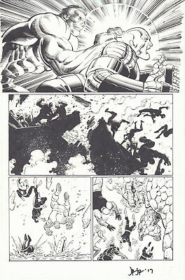Avengers Vs. X-Men #2 p.4 - Hulk vs Colossus Juggernaut 2012 by John Romita Jr.