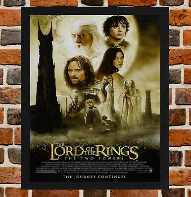 Framed The Lord Of The Rings Movie Poster A4 / A3 Size In Black / White Frame -