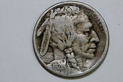 Free Shipping: One Key Date 1921-S Buffalo Nickel that Grades Fine (BNX942)