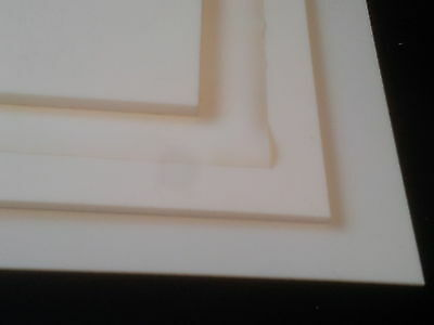 10 mm thick PTFE Sheet standard sizes Postage included