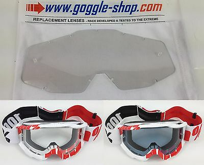 Goggle-Shop Photochromic Light Sensitive Lens 100% Percent Motocross Goggles