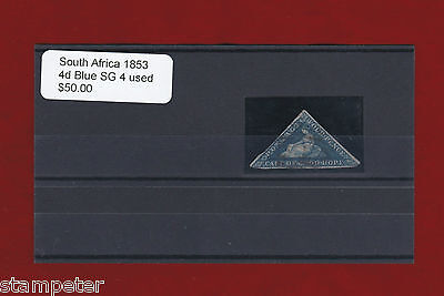 1853 South Africa 4d Blue SG 4 Used