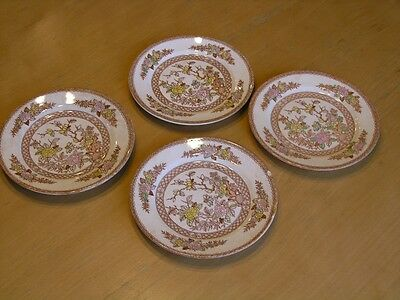 Lot 4 Antique Ucagco Ceramics Japan Indian Tree Butter Dishes Plates As Is