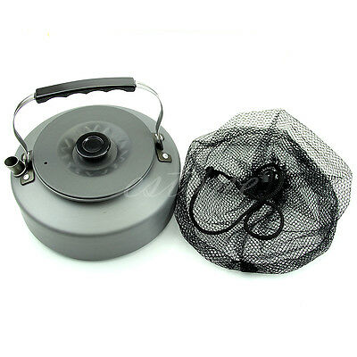 1.6L Portable Aluminum Survival Camping Coffee Outdoor Pot Water Kettle Teapot