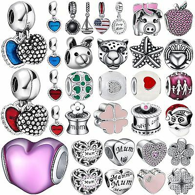 Fashion Cute Bead Design Charms For Bracelets Women 925 Sterling Silver Jewelry