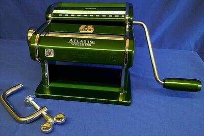 Marcato Atlas 150 Wellness Pasta Maker Machine - Green - Quality Italian Made