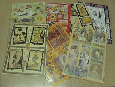 Miscellaneous Craft Scrap Book A4 Paper Pack of 16 Different Patterns
