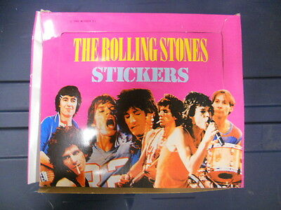 Rolling Stones rare larger stickers full 36 sealed packs box 1983