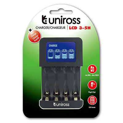 Uniross LCD Intelligent AA/AAA Fast Charger 3-5 Hours UK