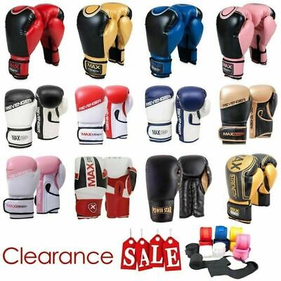 Heavy Duty Boxing Punch Gloves Rex Leather MMA Martial Arts Fight Training Bag