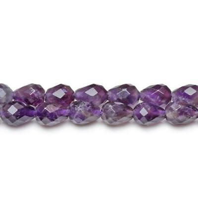 Packet Of 6 x Purple Amethyst 7 x 10mm Faceted Briolette Beads CB27068