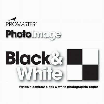 Promaster PhotoImage Black & White Photographic Paper 25sheets 8x10 LUSTER #3045